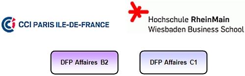Logos Diplôme de français professionnel AFFAIRES