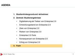 © Prof. Dr. Thorsten Petry, HS RheinMain: Enterprise 2.0 Studie 2017 - Agenda (3)