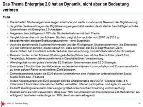 © Prof. Dr. Thorsten Petry, HS RheinMain: Enterprise 2.0 Studie 2017 - Fazit