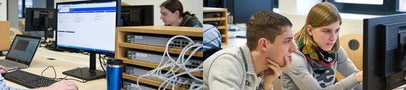 MCT-Studierende im Labor