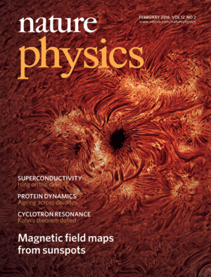 Cover page of Nature Physics