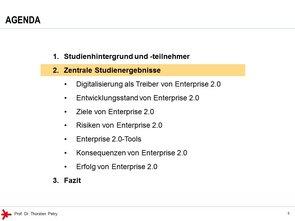 © Prof. Dr. Thorsten Petry, HS RheinMain: Enterprise 2.0 Studie 2017 - Agenda (2)