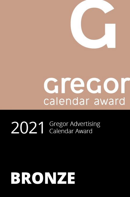 Zertifikat des Gregor Caldender Awards 2021 in Bronze