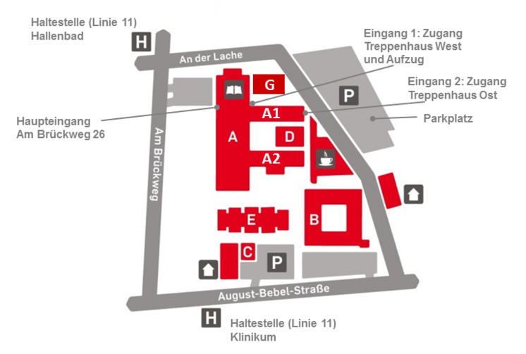 Map of Rüsselsheim campus