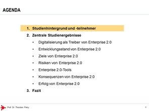 © Prof. Dr. Thorsten Petry, HS RheinMain: Enterprise 2.0 Studie 2017 - Agenda (1)
