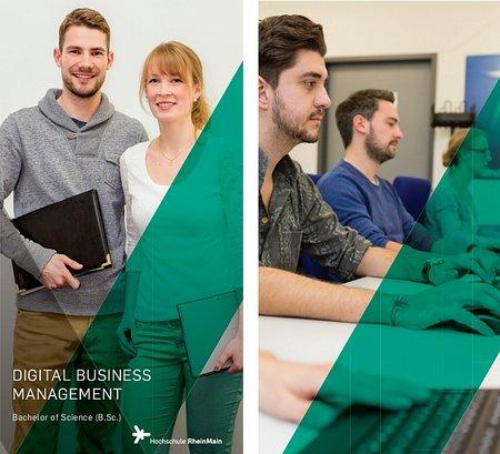 Flyer zum Bachelor-Studiengang Digital Business Management (B.Sc.)