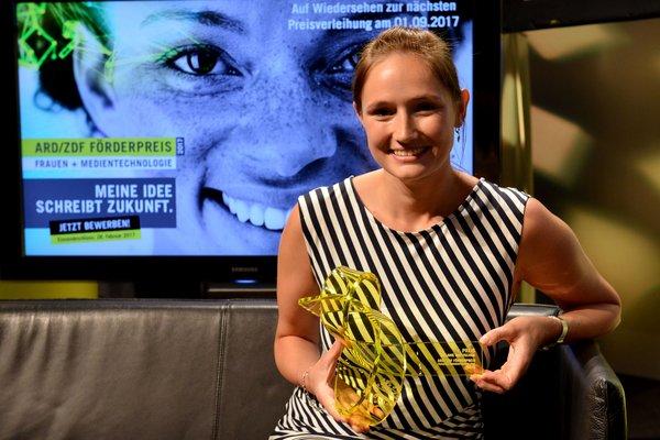 Melanie Matuschak erhielt 2016 den ARD/ZDF Förderpreis Frauen und Medientechnologie